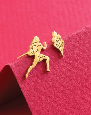 Short Story Disney Earring Pocahontas & Leaf - Jewellery (Gold)