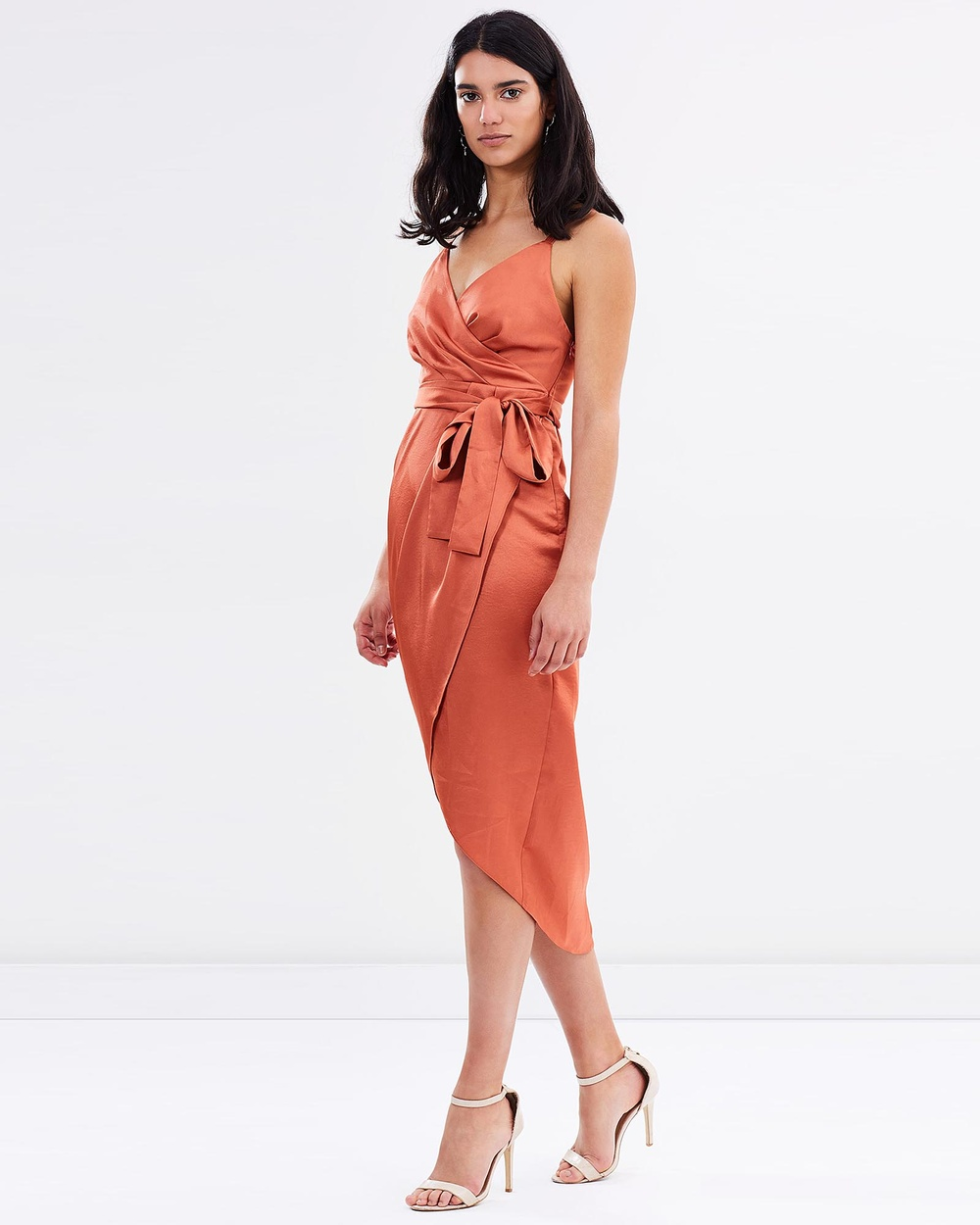 Friend of Audrey Veronika Wrap Dress Dresses Rust Veronika Wrap Dress