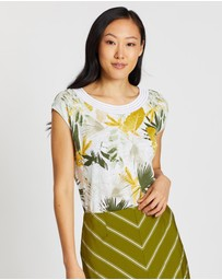 David Lawrence - Bower Print Linen Top