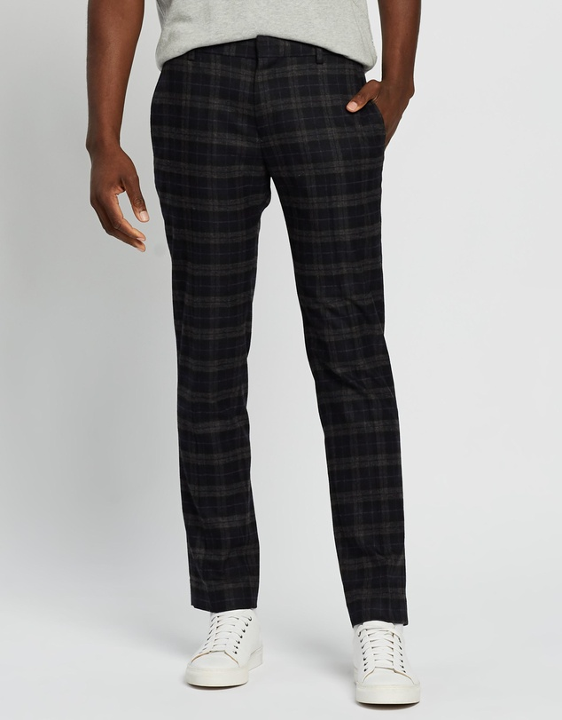 Ben Sherman - Brushed Check Slim Trousers