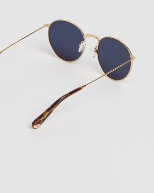 Pacifico Optical Dover - Sunglasses (Vintage Gold with Polarised Blue lens)