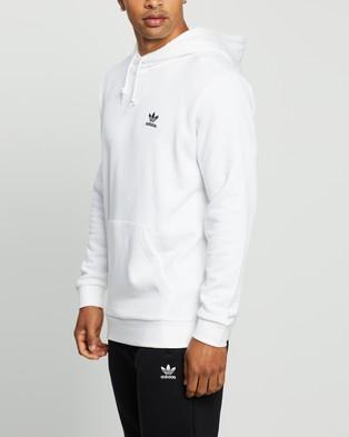 adidas Originals - Essential Hoodie - Hoodies (White & Black) Essential Hoodie