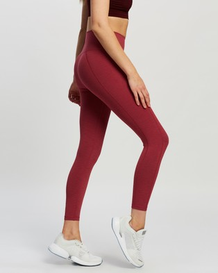 Sweaty Betty Super Sculpt 7 8 Yoga Leggings - 7/8 Tights (Renaissance Red Marl)