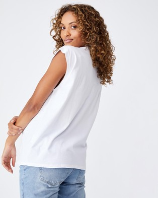 Cotton On Maternity - Friendly Loose Fit Tank Singlets (White)