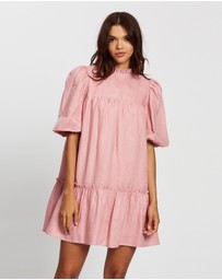AERE - Smock Linen Mini Dress