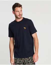 PS by Paul Smith - Embroidered Zebra Organic Cotton T-Shirt