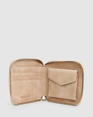 Belle & Bloom Nora Leather Wallet - Wallets (Beige)