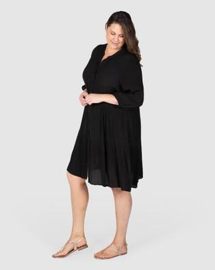 Love Your Wardrobe Liza Tiered Dress - Dresses (Black)