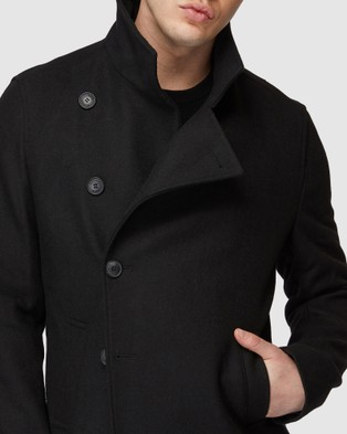 Jack London Brompton Black Coat - Coats & Jackets (Black)