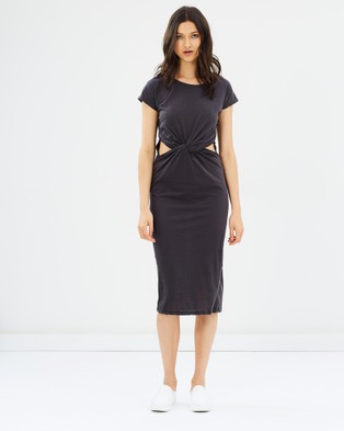 Glamorous – Ready Or Knot Jersey Dress Dark Charcoal
