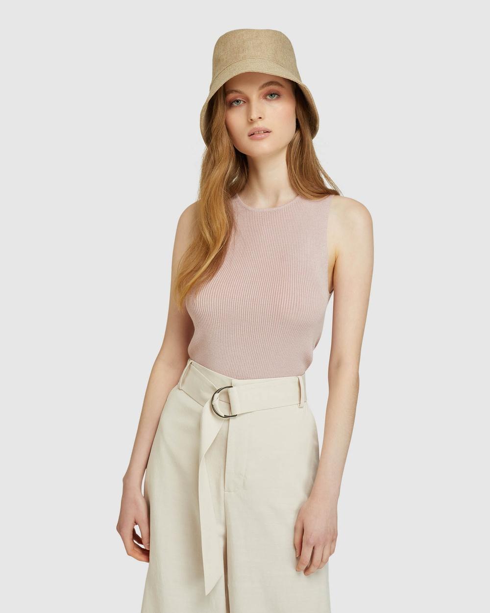 Oxford Rocky Crop Rib Singlet T-Shirts & Singlets Pink Australia