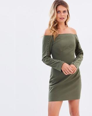 Keepsake the Label – Morning Rain Mini Dress – Bodycon Dresses (Olive)