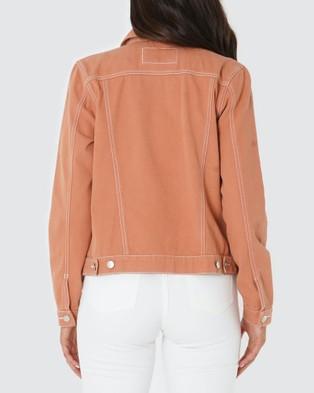 Amelius Anthem Drill Jacket - Coats & Jackets (Peach)