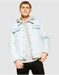 Topman - Bleach Wash Denim Jacket