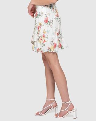 Forever New - Giselle Mini Ruffle Skirt - Skirts (Spring Botanical) Giselle Mini Ruffle Skirt