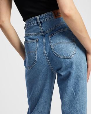 Lee High Mom Jeans - Crop (Galaxy Blue)