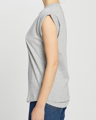 C&M CAMILLA AND MARC Cadiz Logo Tank - T-Shirts & Singlets (Grey Marle with Black)