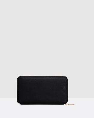 Oroton Duo Book Wallet - Wallets (Black)