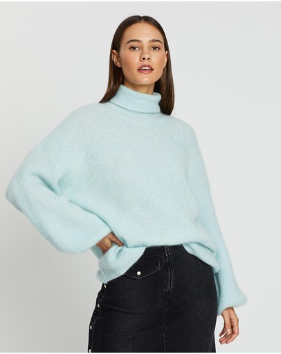 Gestuz Brenda Roll-neck Knit Iced Aqua