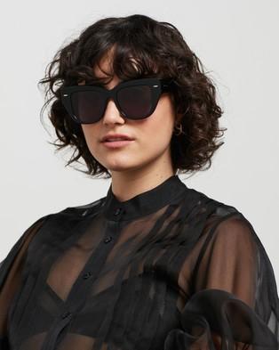 Karen Walker True North Sunglasses Black
