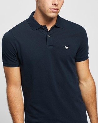 Abercrombie & Fitch SS Core Polo - Casual shirts (Navy)