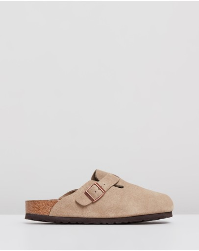 Birkenstock - Womens Boston Suede Leather Narrow Shoes