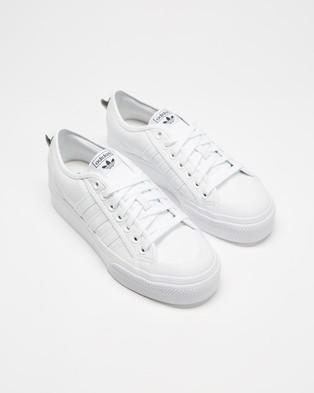 adidas Originals Nizza Platform   Women's - Lifestyle Sneakers (Footwear White, Footwear White & Core Black)
