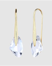 Elli Jewelry - Earrings Drop Dangle with Swarovski® Crystals in 925 Sterling Silver gold plated