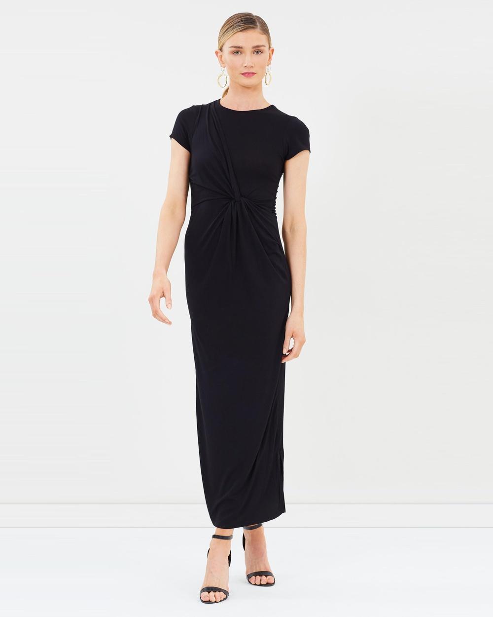 Dorothy Perkins Jersey Knot Maxi Dress Dresses Black Jersey Knot Maxi Dress