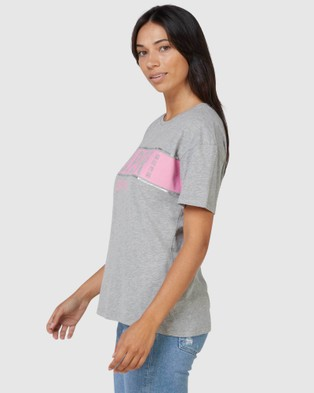 Superdry SDRY Panel Tee - T-Shirts (Ice Marle)