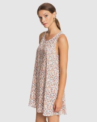 Roxy - Womens Sweet Whisper Tank Dress - Dresses (SNOW WHITE FRANKIE) Womens Sweet Whisper Tank Dress