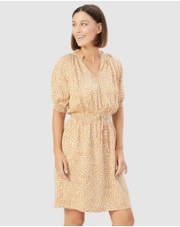 French Connection - Animal Shirred Dress