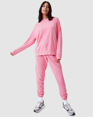 Cotton On Body Active Lifestyle Long Sleeve Crew Top - Sweats (Aurora Pink Wash)