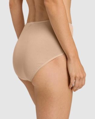HANRO Cotton Seamless Maxi Briefs - Briefs (Nude)