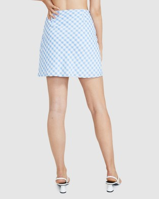 Alice In The Eve Marietta Slip Mini Skirt - Skirts (BLUE)