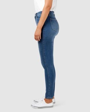 Jeanswest Freeform 360 Contour Curve Embracer High Waisted Skinny Jeans True Blue - High-Waisted (Blue)