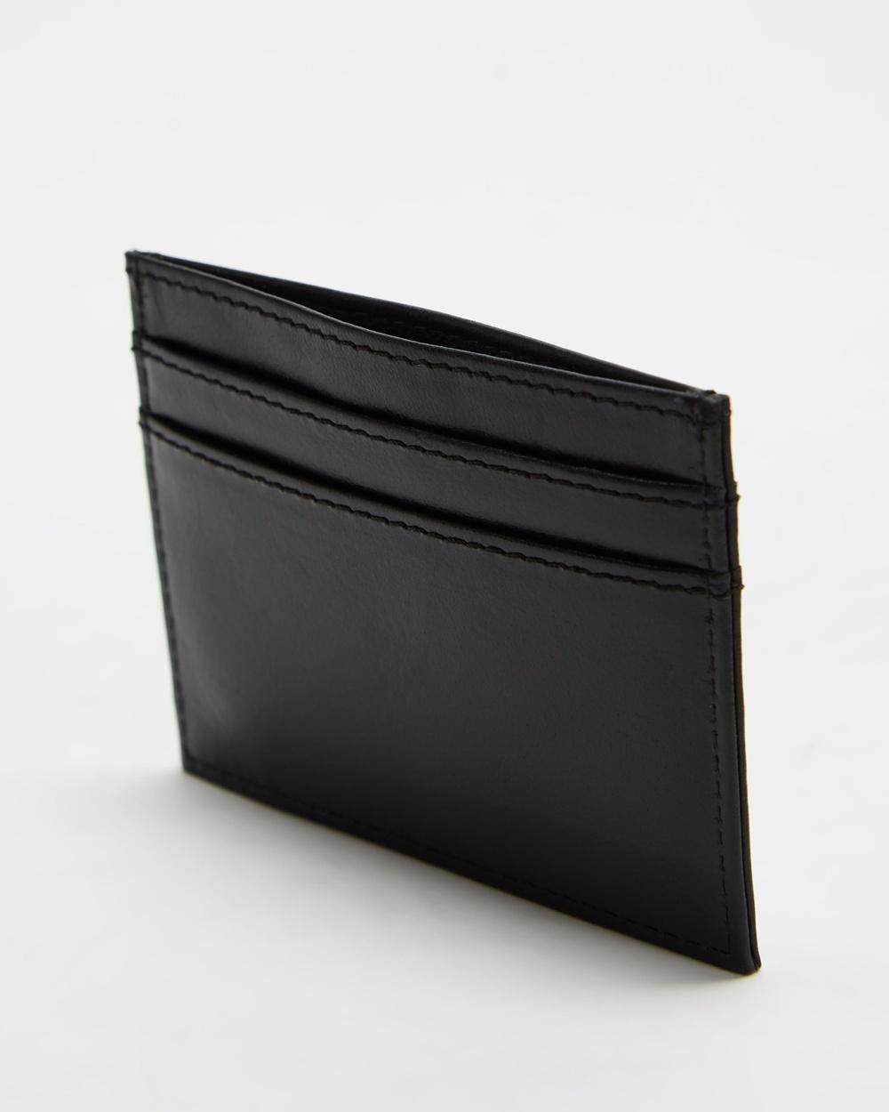 AERE Leather Cardholder Wallets Black