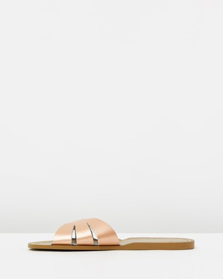 Saltwater Sandals Womens Classic Slides - Sandals (Rose Gold)