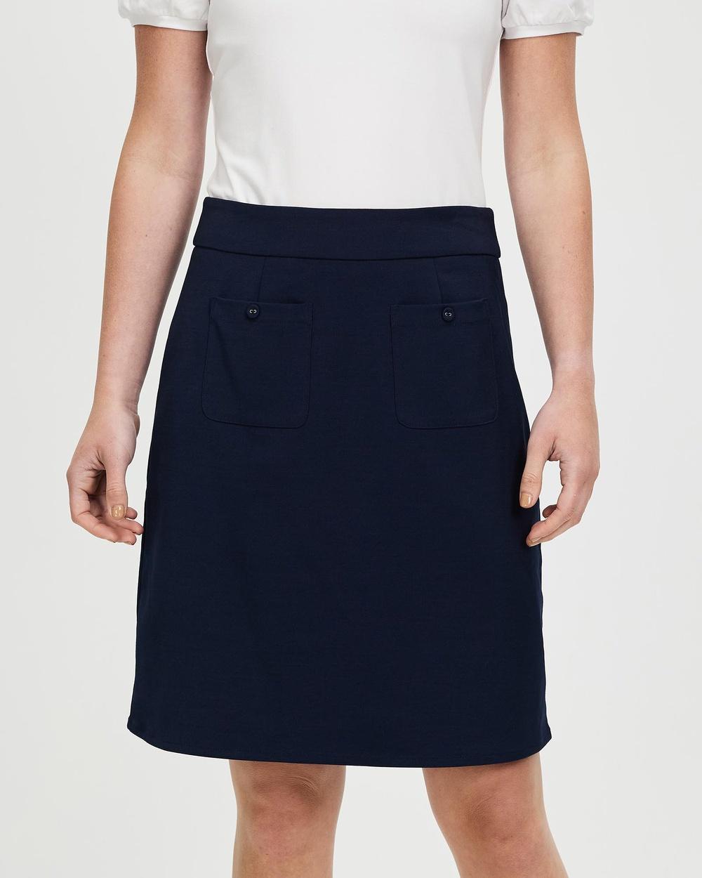 Review Adeline Skirt Skirts Navy