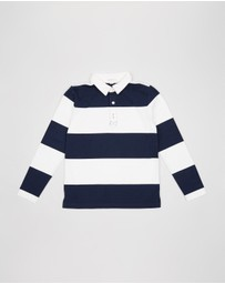 crewcuts by J Crew - LS Rugby Stripe Shirt - Teens