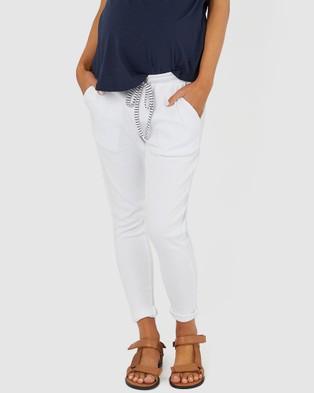 legoe Rib Joggers II - Sweatpants (White)