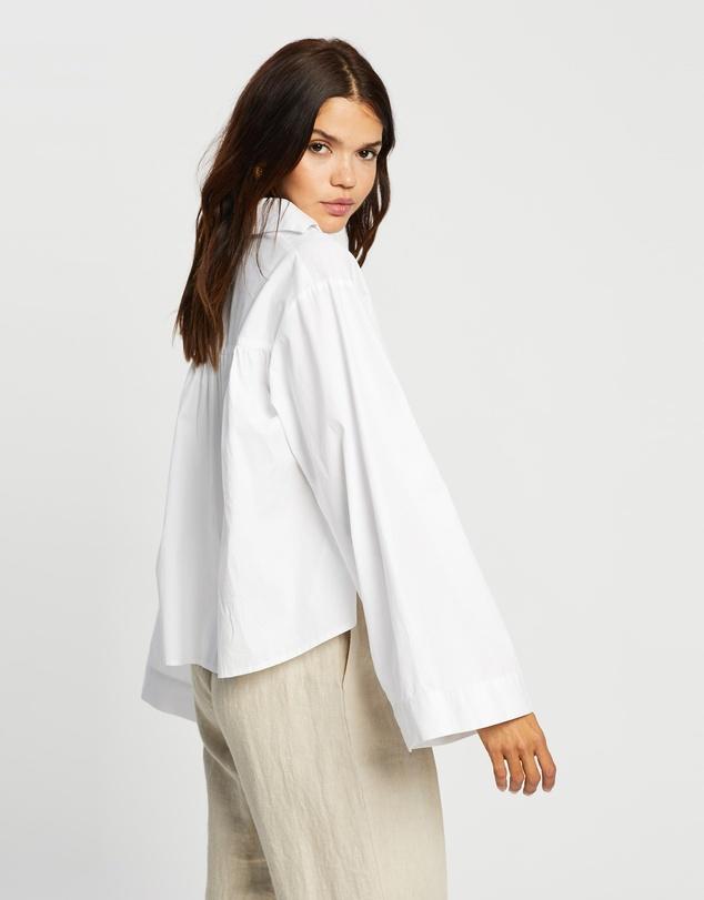 Women Organic Cotton Cropped Shirt