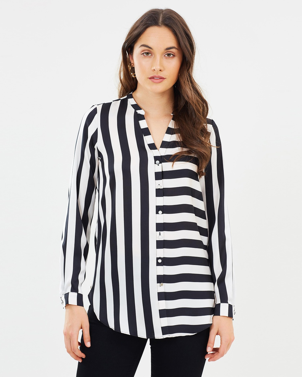 Wallis Humbug Shirt Tops Black & White Humbug Shirt