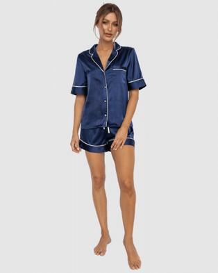 Modern Romantique Aubrey Pyjama Set - Two-piece sets (Navy)