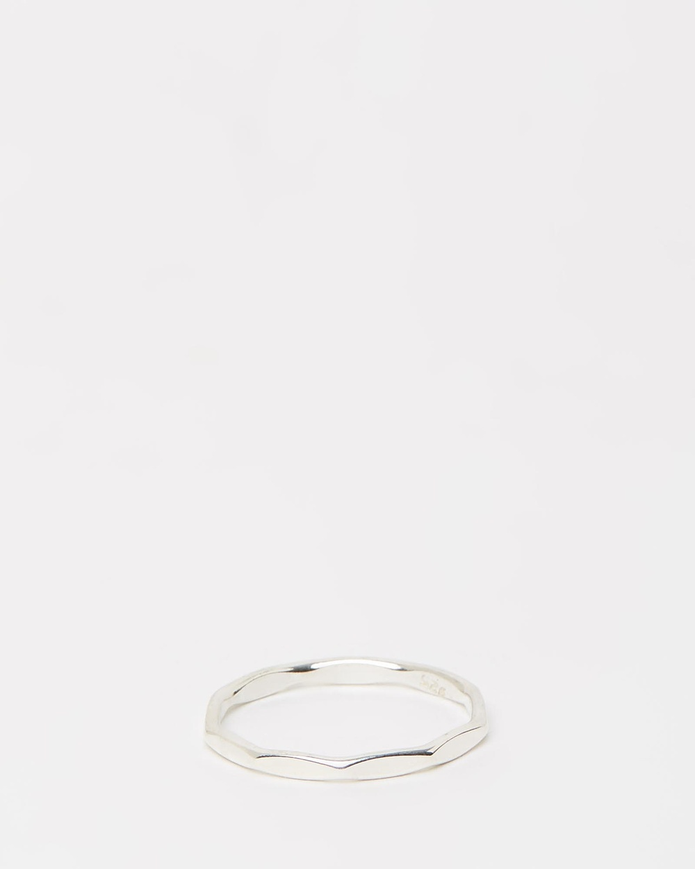 Ichu Edge Ring Jewellery 925 Sterling Silver