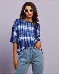 Dazie - After Party Tie Dye Oversized Tee