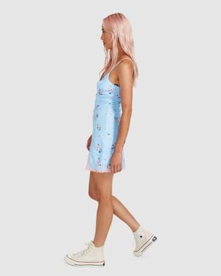 Neon Hart Dana Lace Trim Mini Dress - Dresses (ASSORTED)