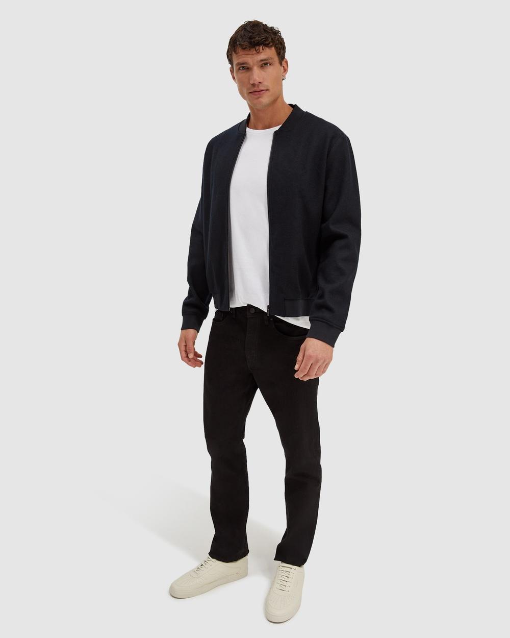 SABA Karl Wool Bomber Jacket Coats & Jackets Washed Black