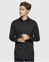 Oxford - Black Stretch Travel Shirt