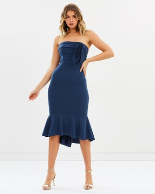 Pasduchas – Dollface Strapless Midi – Bridesmaid Dresses (Cadet Blue)